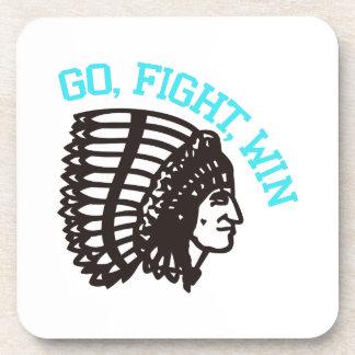 Go Fight Win Drink Coaster