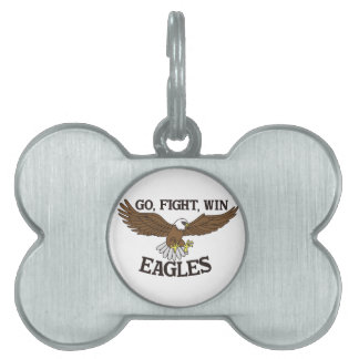 Go, Fight, Win Eagles Pet Name Tag