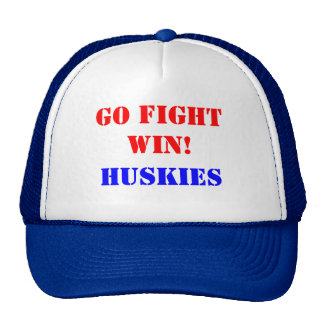 GO FIGHT WIN!, HUSKIES TRUCKER HAT