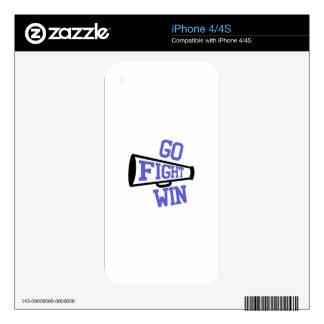 Go Fight Win iPhone 4 Decal