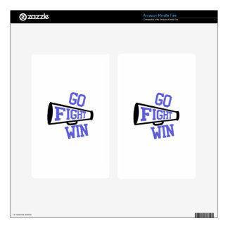 Go Fight Win Kindle Fire Decal