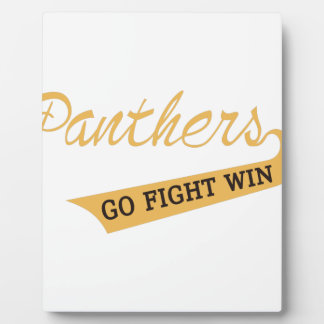 Go Fight Win Plaque
