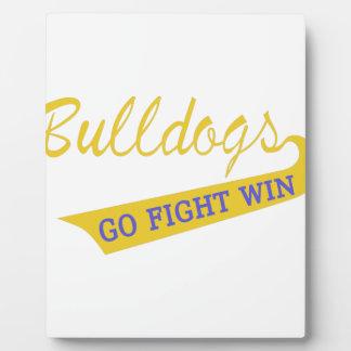 Go, Fight, Win Plaque