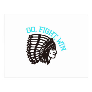 Go Fight Win Postcard