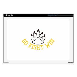"Go Fight Win 17"" Laptop Skins"