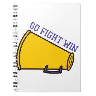 Go Fight Win Spiral Notebook