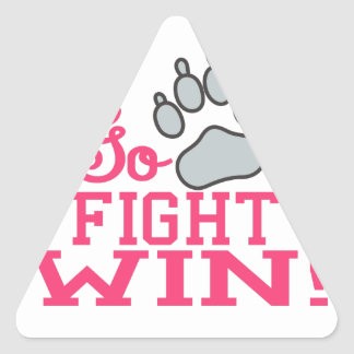 Go Fight Win Triangle Sticker