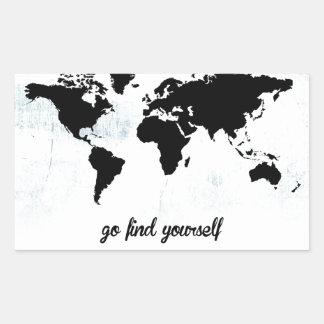 Go find yourself rectangular sticker