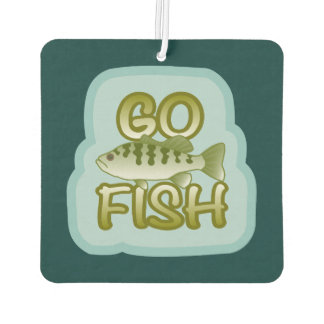 * Go Fish Bass on Speckled Light Blu Air Freshener