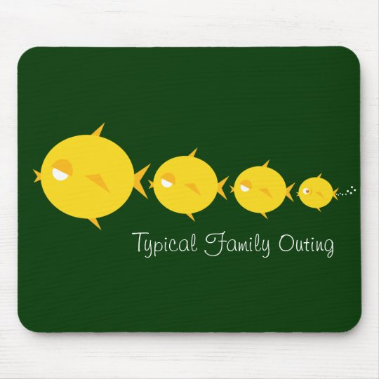 Go Fish_Bubbles The Blowfish_Family Outing Mouse Pad