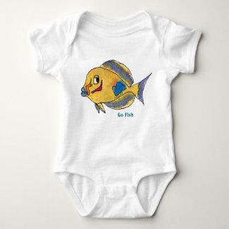 Go Fish Cartoon Fish Cute Baby Bodysuit