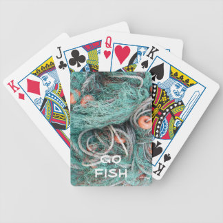 """""""Go Fish"""" Fishing Net Playing Cards Bicycle Playing Cards"""