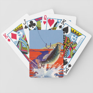 Go Fish Fishing Red Boat Cabin Cottage Camp Cards