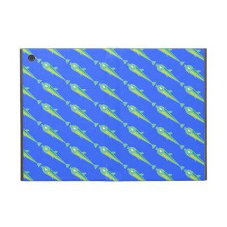 Go Fish_Green Sardines_on blue Cases For iPad Mini