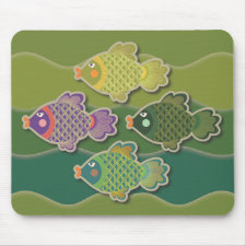 Go Fish Mouse Pads