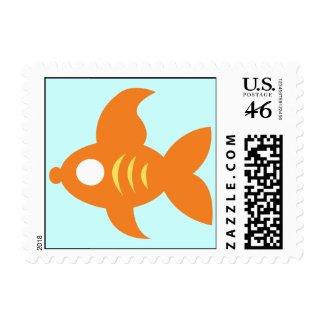 Go Fish_Orange Roughly Glamorous Goldfish stamp