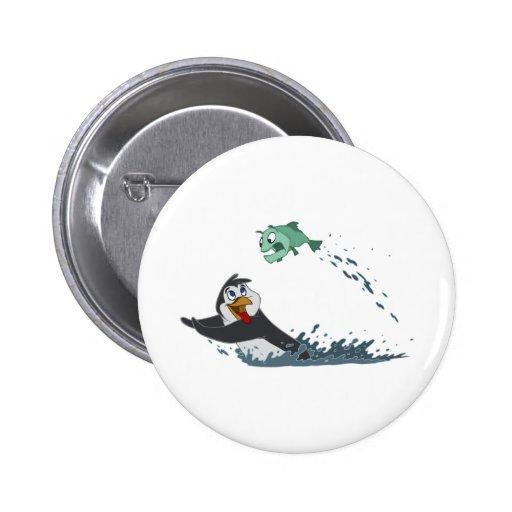 """""""Go Fish"""" Penguin Buttons"""