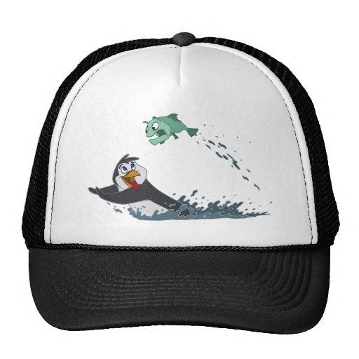 """""""Go Fish"""" Penguin Trucker Hat"""