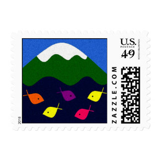 GO FISH POSTAGE STAMPS
