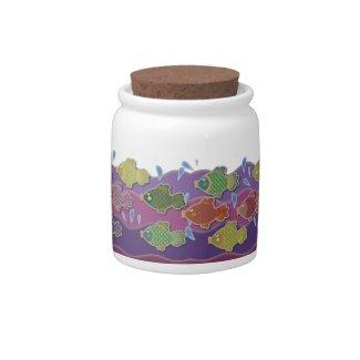 Go Fish Purple Candy Jars