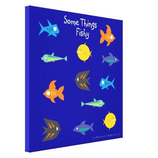 Go Fish_Some Things Fishy_deep blue sea Canvas Prints
