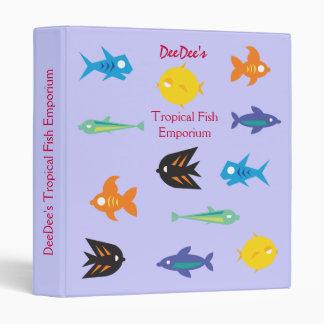 Go Fish_Some Things Fishy_Tropical Fish Emporium 3 Ring Binder