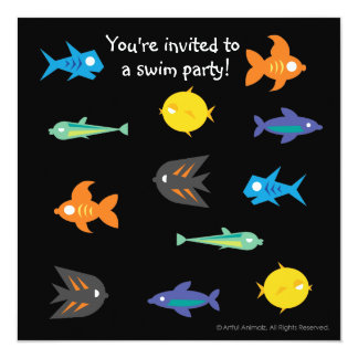 Go Fish_You're invited to a swim party! Card