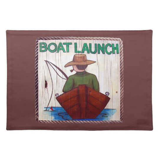 Go Fishing! Boat Launch Painting Placemat
