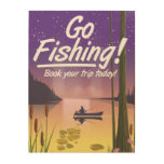 Go Fishing! Wood Wall Decor