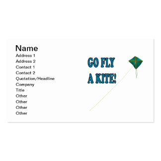 Go Fly A Kite 2 Double-Sided Standard Business Cards (Pack Of 100)