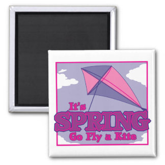 Go Fly A Kite! 2 Inch Square Magnet
