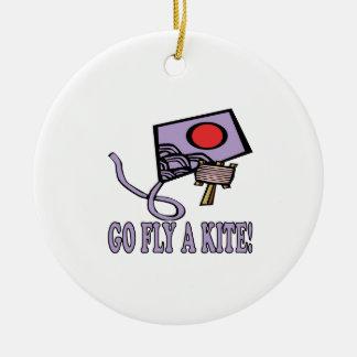 Go Fly A Kite 3 Ceramic Ornament