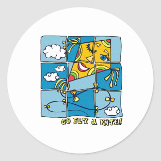 Go Fly a Kite 4 Classic Round Sticker