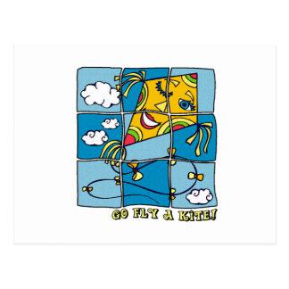 Go Fly a Kite 4 Postcard
