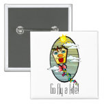 Go Fly a Kite 7 2 Inch Square Button