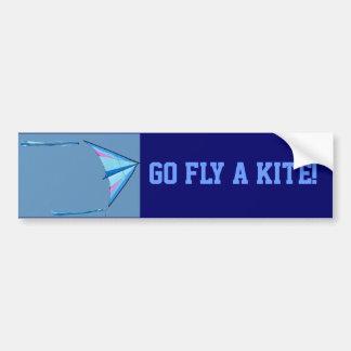Go Fly A Kite Car Bumper Sticker