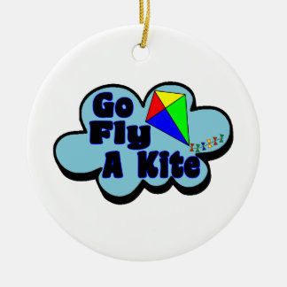 Go Fly A Kite Ceramic Ornament