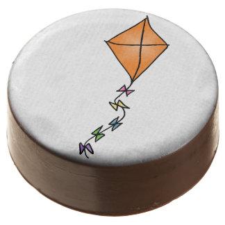 Go Fly a Kite! (orange) Chocolate Dipped Oreo
