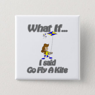Go fly a kite pinback button