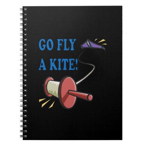 Go Fly A Kite Spiral Note Books