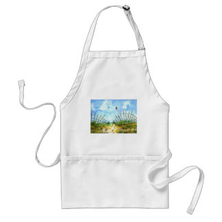 Go Fly A Kite - watercolor Adult Apron