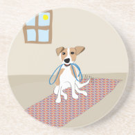 Go for a Walk Dog - Paw of Attraction Beverage Coaster