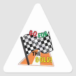 Go For Gold Triangle Sticker