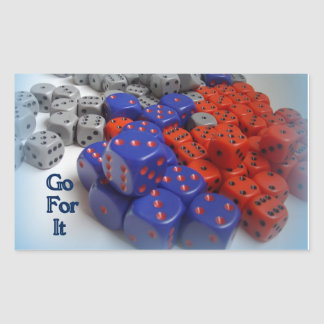 Go for it Dice Stickers