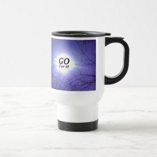GO For It! 15 Oz Stainless Steel Travel Mug