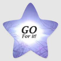 GO For It! Star Sticker