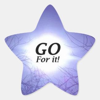 GO For It! Star Sticker