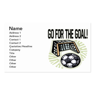 Go For The Goal Double-Sided Standard Business Cards (Pack Of 100)