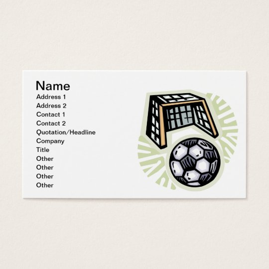 Go For The Goal Business Card