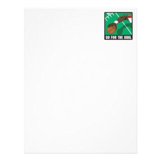 go for the goal football design letterhead